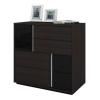 Tủ kéo 4 ngăn Dazzle Nâu đen DIY-4683