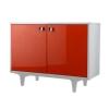 Tủ thấp BALI 100 CM Trắng/Cam DIY-9573