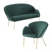 Bộ Sofa LUX (1 Chỗ + 3 Chỗ) S108 Xanh