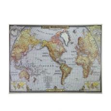 Tranh WORLD MAP 85X113X4 cm Đa Màu